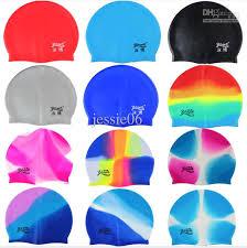 2017 2017 new fashion silicone swim cap color swimming cap bathing