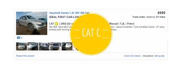 ing a cat c or d car from auction