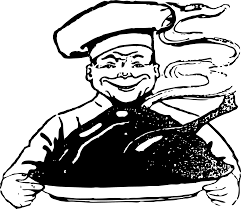 clipart creepy turkey chef