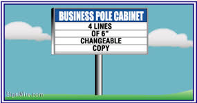 lighted outdoor business pole signage