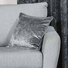 Steel Grey Curtains Ring Top Eyelet Plush Crushed Faux Velvet Steel Grey Curtains Ebay