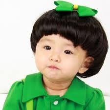 fashion 2015 super cute baby boy mushroom head black hair wig