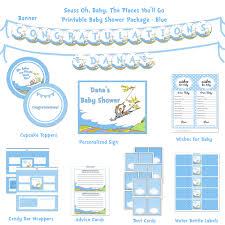 seuss baby shower printable package oh baby the places you u0027ll go