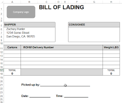 Bill Of Lading Template Excel Xlsx Template With Epplus And Web Api Save As Xlsx Or Pdf Zach