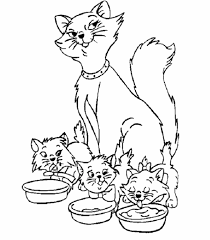 coloring page of a kitty kitty cat coloring pages chacalavong info