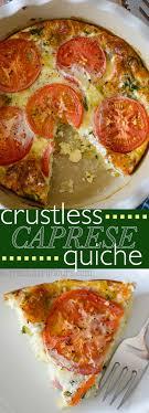 r駸ultat cap cuisine crustless caprese quiche