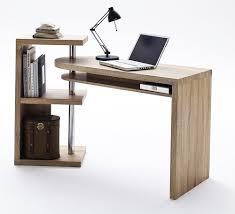 plan de bureau en bois bureau design blanc laque avec plateau pivotant max