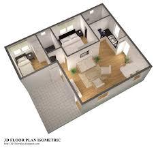 3D floor plan ISOMETRIC 1600—1501
