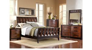 cherry sleigh bed bedford heights cherry 7 pc queen sleigh bedroom transitional
