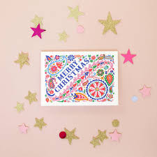 set of eight folk cards by may contain glitter