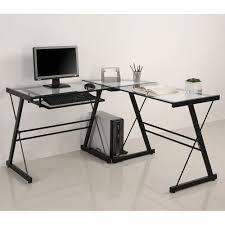Glass Corner Desk 79 Glass And Metal Corner Computer Desk Colors Ohhh