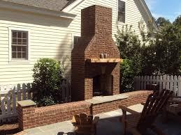 outdoor brick fireplace garden design