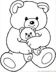 cartoon bear coloring pages coloring