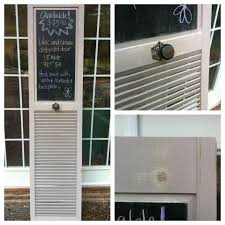 upcycle an old bifold louvre door into a message board vintage