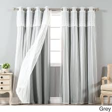 Priscilla Curtains With Attached Valance Valance Curtains With Attached Valance Shower Curtains