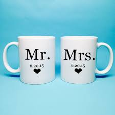 wedding gift mugs mr and mrs gift bridal shower gift mr and mrs coffee mug
