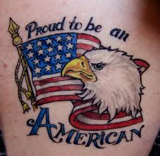 Eagle And Flag Tattoos Us Flag And Eagle Army Tattoo On Right Bicep