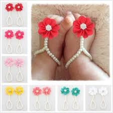 baby hair clip chiffon flower pearl baby shoes baby pearl anklet foot ring