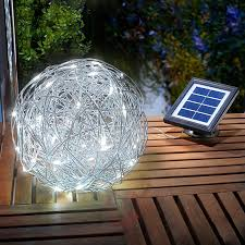 outdoor light led solar aluminium wire lights co uk
