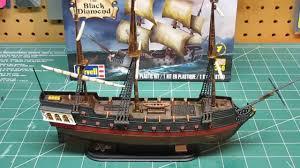 revell 1 350 black diamond pirate ship model kit build up part 3
