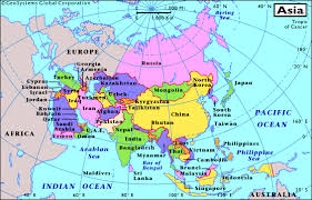 regional map of asia map of asia region major tourist attractions maps