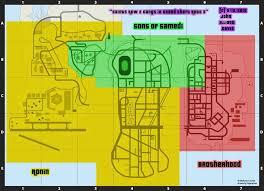 Gang Map Saints Row 2 Gangs In Gta 3 Map By Littlegreengamer On Deviantart