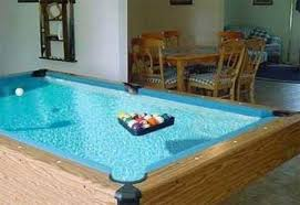 Table Pool This Is Awsome Water Under The Pool Table Looks Awsome Also A