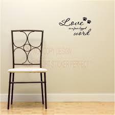 dog home decor love is a four legged word dog cat pets decals cute puppy wall art