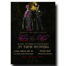halloween wedding invitation mrs u0026 mr halloween with a yellow