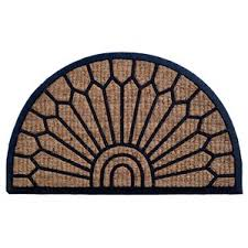 Half Moon Doormat Semi Circle Outdoor Door Mats You U0027ll Love Wayfair
