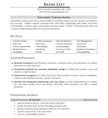 Sample Entry Level Resumes by Resume Highlights Examples Berathen Com