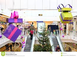 christmas decorations in shopping mall editorial stock image
