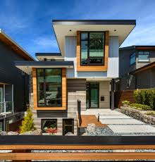 appealing contemporary green homes with natural stone walls and
