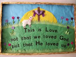 Easter Decorating Ideas Church by Best 25 Easter Bulletin Boards Ideas On Pinterest Easter Images