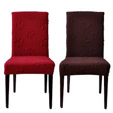 Seat Covers For Dining Chairs High Quality Four Colours Beautiful Household Elastic Chair Covers