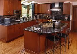 Kitchens With Black Countertops Kitchen Elegant Cherry Kitchen Cabinets Black Granite