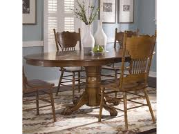 Liberty Furniture Dining Table by Liberty Furniture Nostalgia Oval Single Pedestal Dinner Table