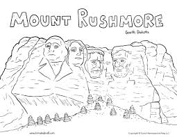 mount rushmore coloring page tim u0027s printables