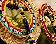 collar beadwork worn by the maasai kenya tanzania africa