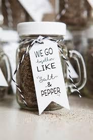 salt and pepper wedding favors make your own salt pepper jar spice shaker favors