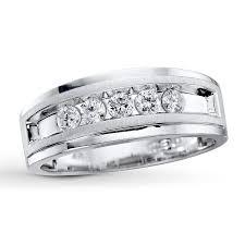 mens engagement rings kay men u0027s diamond band 1 2 ct tw round cut 10k white gold