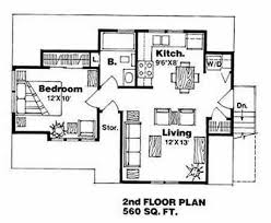 traditional style house plan 1 beds 1 00 baths 560 sq ft plan