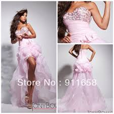 appglecturas light pink high low prom dress images