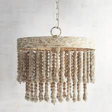 bead chandelier wood bead chandelier pier 1 imports