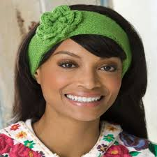 knit headband knit headband with crochet flower heart