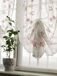 Cottage Style Curtains And Drapes Provence French Country Valance Swag Curtain Waverly Red Gold
