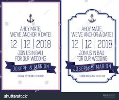nautical save the date nautical save date theme stock vector 249506773