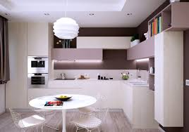 Apartments Modern Apartment Kitchen Design Dark Leather Dining - Apartment kitchen design