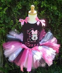 girls personalized minnie mouse tutu girls birthday minnie