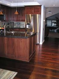 what color wood floor looks with cherry cabinets hardwood floor colors in kitchen hardwood floor